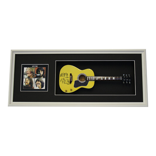 the beattles guitar & postcard by: springfield hobbies